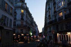 Paris streets at dusk, 10th District