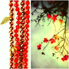 Gold And Red necklace #fall16 # handmade # Frago-là