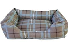 CPC Brutus Tuff 42 x 30 x 10Inch Kuddle Lounge for Dogs and Cats XLarge BlueBrown Plaid >>> Want to know more, click on the image. #DogBeds