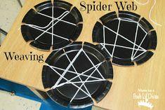 Mom to 2 Posh Lil Divas: Spiders and Bats in Preschool Preschool Lesson Plans, Preschool Themes, Preschool Activities, Spring Activities, Preschool Learning, Spider Web Craft, Spider Art, Spider Webs, Halloween Activities