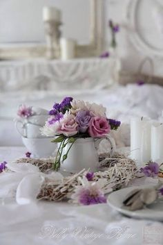 bridal sets & bridesmaid jewelry sets – a complete bridal look Shabby Chic Antiques, Shabby Chic Cottage, Vintage Shabby Chic, Shabby Chic Homes, Floral Centerpieces, Floral Arrangements, Beautiful Roses, Beautiful Flowers, Lavender Cottage