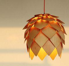 Wood Floral Ceiling Lamp pendant lamp ceiling lamp by industlamp