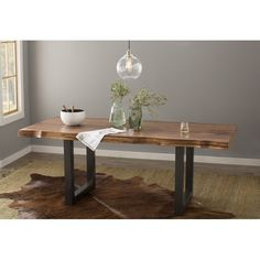 See the Linde Dining Table. Pine Dining Table, Solid Wood Dining Table, Extendable Dining Table, Dining Table In Kitchen, Living Room Kitchen, Dining Rooms, Condo Kitchen, Kitchen Nook, Dining Sets