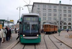 Trams of Helsinki, history meets the present at Kauppatori market square