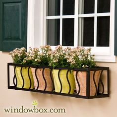 A modern take on the window box! #flower #garden #planting #modern #summer windowbox.com