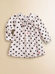 Lili Gaufrette Infant's Polka Dot Dress