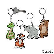 Jungle Animal Keychains