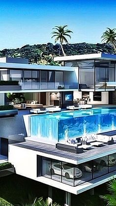 """Luxury Homes Interior Dream Houses Exterior Most Expensive Mansions Plans Modern 👉 Get Your FREE Guide """"The Best Ways To Make Money Online"""" Dream Home Design, Modern House Design, My Dream Home, Dream Mansion, Luxury Homes Dream Houses, Modern Mansion, Dream House Exterior, Mansions Homes, Future House"""