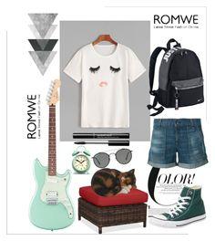"""romwe"" by jediina-ja on Polyvore featuring moda, Pottery Barn, Converse, rag & bone, NIKE, Newgate i Ray-Ban"