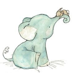 pastel elephant - Google Search