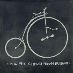 Penny Farthing PRINT. $20.00, via ChalkChalk.    Here's some cycle chic for the home.