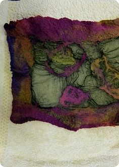 """""""Nuno-felted scarf  + tutorial"""" Lots of pictures if you haven't tried felting and nuno-felting. S"""