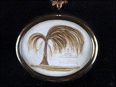 This broach has Jane Austen's hair in it. Regency Mourning, Jane Austen's World