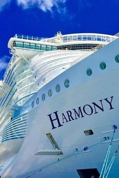 Harmony of the Seas   Adventure everywhere. Seven exciting onboard neighborhoods, twenty unique dining options, two FlowRiders, and one sky-high Ultimate Abyss. With countless onboard thrills, one thing is for certain: there's no shortage of adventure when you cruise with Royal Caribbean onboard Harmony of the Seas.