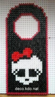 Door hanger Monster High hama perler by deco.kdo.nat