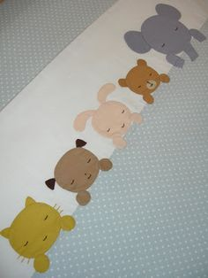 Adorable applique on a baby quilt! More