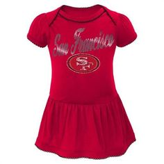 cdd356463 49ers Baby Dazzle Bodysuit Dress  SF  49ers  Baby  Infant  Toddler