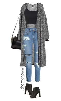 Grunge chic torn jeans and long cardigan outfit from cherrysnoww liked - Elegantes outfit - Roupas Ideias Cute Casual Outfits, Swag Outfits, Mode Outfits, Grunge Outfits, Stylish Outfits, Fall Outfits, Polyvore Outfits Casual, Cute Outfits With Jeans, Party Outfits