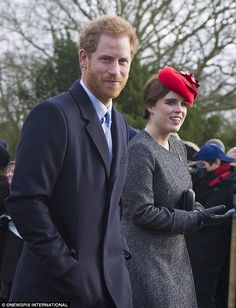 Christmas apart: While his girlfriend Meghan Markle was in Toronto, Prince Harry spent the day at Sandringham, the Queen's country estate in Norfolk, and attended church with family members including Princess Eugenie, his cousin