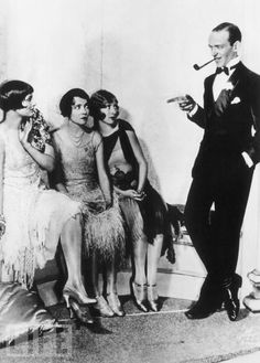 The ladies are clearly unimpressed by this fool's attempts to be suave. Silly Mr. Astaire.