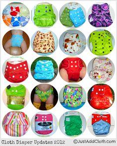 Diaper updates 2012! New updates on the cloth diaper reviews of 2012... Brands Reviewed: Thirsties, Oh Katy, Glow Bug, Funky Fluff, Tender Tushies, Jiggs of Maine, Incredibum, Baby Babu, Imagine, Tiny Tush, Buns Up Baby, GoGreen, Lotus Bumz, SunBaby, itti bitti, Wahmies