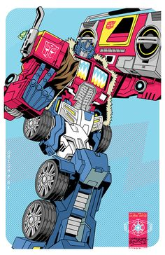 Transformers - Optimus Prime by Corey Lewis. Dude that's just freakin awesome! Transformers Masterpiece, Transformers Optimus Prime, Gi Joe, Retro, Arte Robot, Cartoon Tattoos, Ex Machina, Cultura Pop, Comic Art