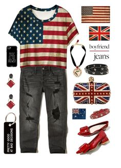 """Flags And Mental Jewelry"" by sharee64 ❤ liked on Polyvore featuring Hollister Co., WithChic, Alexander McQueen, Dolce&Gabbana, RED Valentino, Pottery Barn, Marni, Casetify and Various Projects"