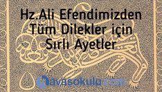 Hz. Ali Efendimizden Tüm Dilekler için Sırlı Ayetler Islam, Celine, Flora, Bern, Plants
