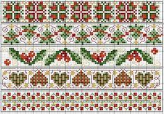 Christmas cross stitch borders | Cross Stitch Patterns & Flowers
