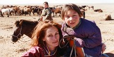 Julia Roberts spent several weeks traveling with a nomadic Mongolian family, experiencing the culture's special relationship with the wild horse.