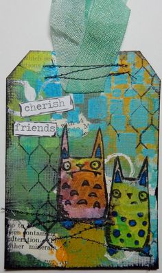 Mixed Media ATC tag by Christy Houser