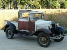 Great patina on this Model A Ford truck. Love the wheels.