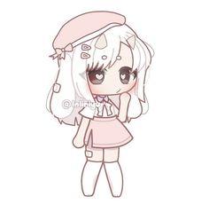 Blonde Anime Girl, Anime Girl Short Hair, Cute Anime Chibi, Chica Anime Manga, Chibi Hair, Club Hairstyles, Drawing Anime Clothes, Bear Wallpaper, Cute Anime Character