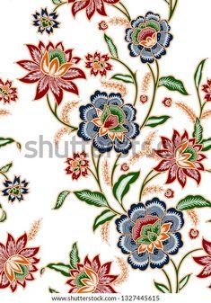 Textile Prints, Textiles, Batik Pattern, Botanical Flowers, Digital Prints, Tapestry, Illustration, Artwork, Design
