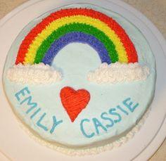 rainbow cake decoration | Wilton Course 1 Class Cakes