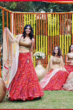 Love how full and flowing the lehenga is.