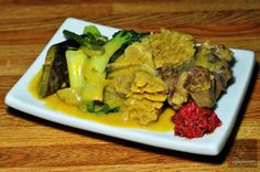 KARE KARE Oxtail and Tripe Stew in Vegetable and Peanut Sauce with Shrimp Paste