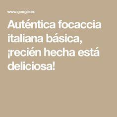 Auténtica focaccia italiana básica, ¡recién hecha está deliciosa!