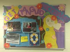 Tangled RA board #tangled #RA #reslife #bulletinboard #residentassistant #rapunzel