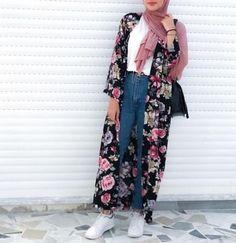 kimono-Casual chiffon kaftans with hijab – Just Trendy Girls