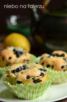 niebo na talerzu: Muffinki z jagodami. Babeczki jagodowe z kruszonką