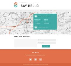 #website contact page #design