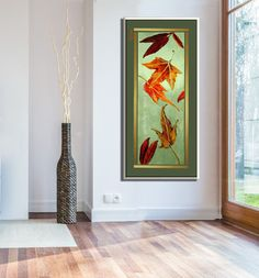 Large Wall Art Painting, Canvas Art Painting of Autumn Color Leaf Art, Home Decor Gold Autumn Leaves Oil Painting, abstract Landscape Art by MiriLaveeArt on Etsy