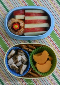 stripey birdie bento by anotherlunch.com, via Flickr