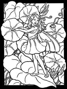 Welcome to Dover Publications - Garden Fairies Stained Glass Coloring Book