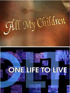 My two favorite soap operas...off the air :(