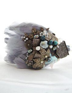 Feather headband Late In Wonderland headband By Sheena holland