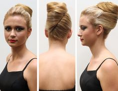 Classic french roll hairstyle -pin it from carden Formal Hairstyles, Bun Hairstyles, Wedding Hairstyles, French Roll Hairstyle, French Pleat, Hair Doo, French Twists, Hair Skin Nails, Gorgeous Hair
