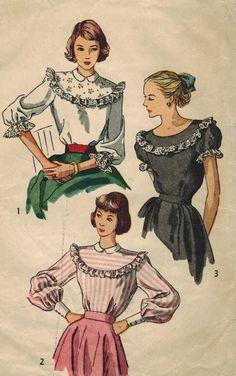 années 1940 simplicité 2483 Vintage Sewing par midvalecottage