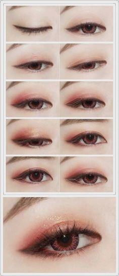 Korean makeup tutorials, The building blocks beneath the makeup cap can be used as a concealer. If you're out of concealer, use what's under the cap in your bottle of foundation. This makeup can help Korean Makeup Look, Korean Makeup Tips, Asian Eye Makeup, Korean Makeup Tutorials, Ulzzang Makeup Tutorial, Korean Makeup Ulzzang, Kawaii Makeup Tutorial, Korean Wedding Makeup, Eyeshadow Tutorials
